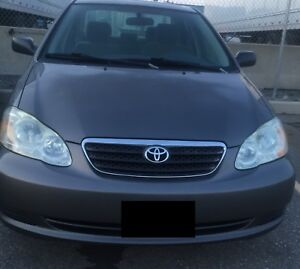 2005 manual Corolla (Sunroof, Alloys)
