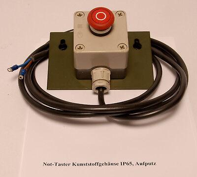 Not-Taster Kunststoffgehäuse IP65, Aufputz  Drucktaster