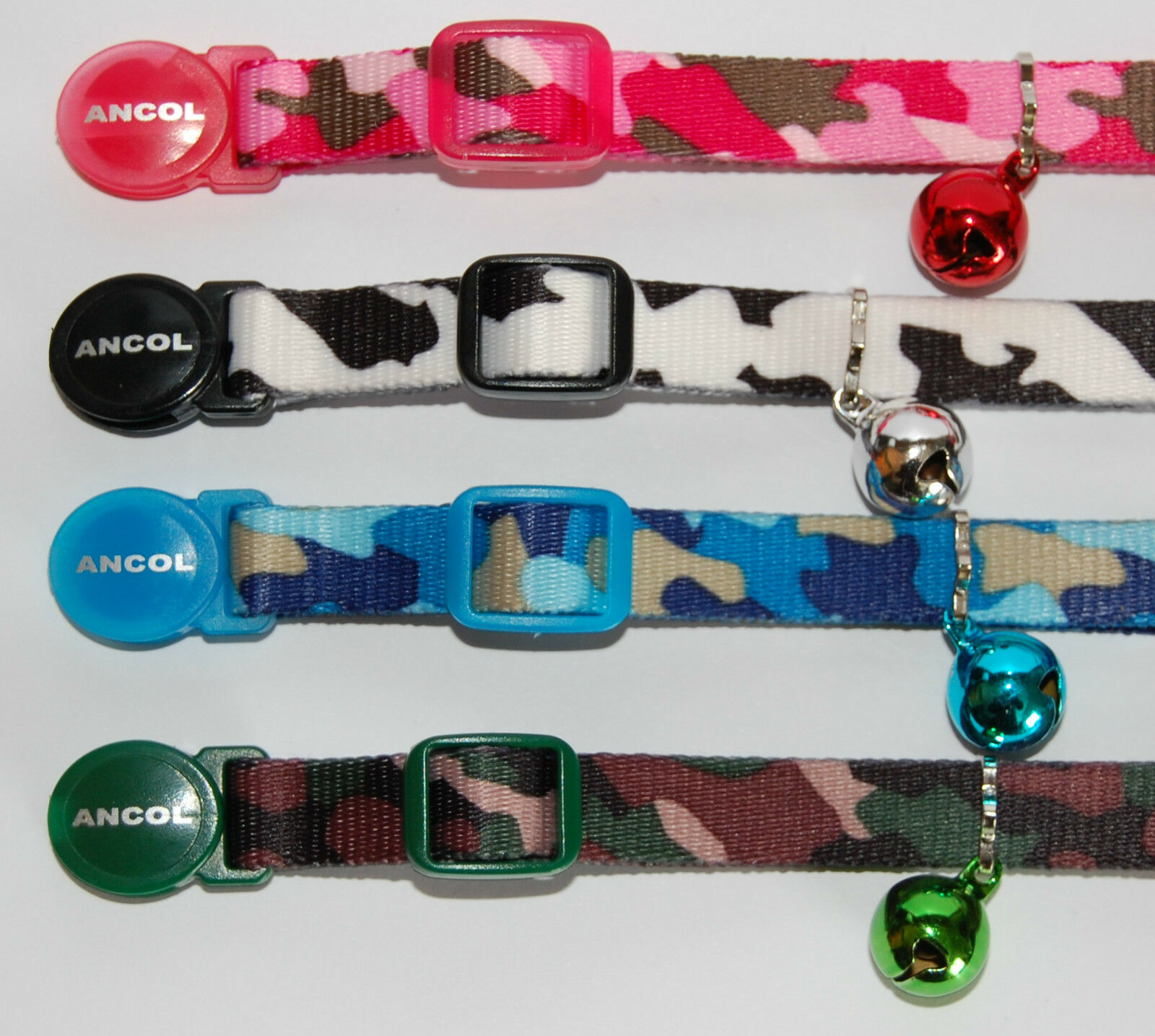 ANCOL CAMOUFLAGE CAT COLLAR ( With or Without Engraved ID Tag )