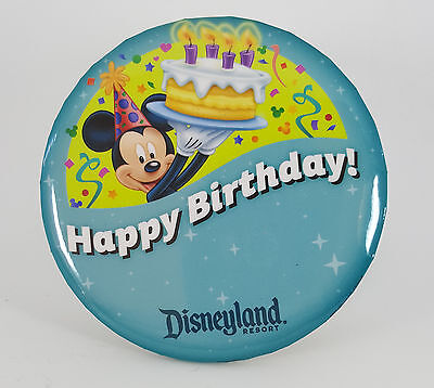 Disneyland Birthday Button (Disneyland Happy Birthday with Mickey Mouse Collectible Button Pin)