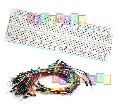 Combo2 830 Points Solderless PCB Breadboard MB102 & 65Pcs Jumper cables Arduino