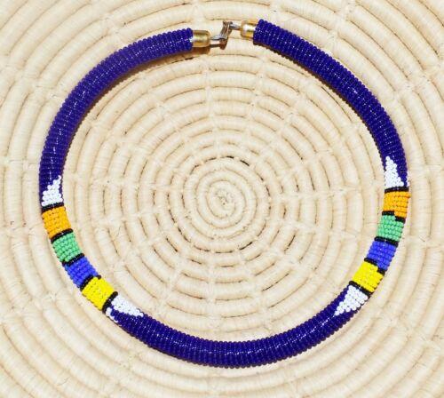African Maasai Beaded Choker Necklace Masai Massai ethnic tribal boho jnmr508
