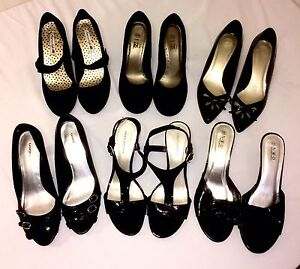 Ladies Assorted Black Shoes Lot # 50