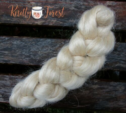 USA Yearling Mohair TEA TAN Top Roving Spinning Doll Hair Crafts 1 OUNCE