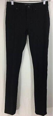 CALVIN KLEIN Size 2 Lightweight Black Straight Leg Stretch Jeans 26x29 Measured
