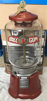 Vintage Northwestern Restored Model 33 Glass Globe Gumball Machine