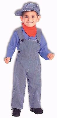 Train Conductor Engineer Costume Childrens Boys Toddler Child Overalls Kids NEW