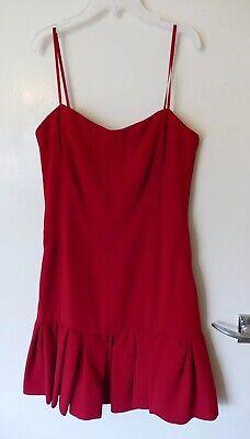 Ladies Jill Jill Stuart Size 6 EU 34 Red Boned Designer Party Dress Free Post