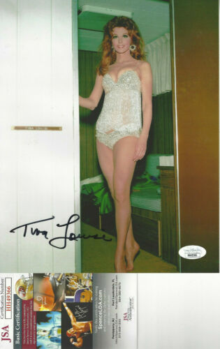 Gilligan's Island Ginger Tina Louise autographed 8x10 sexy color photo JSA Cert