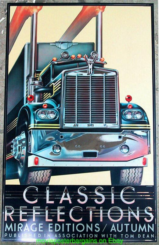 DAVID B. MCMACKEN Art MAC TRUCK / 18 Wheeler Poster CLASSIC REFLECTIONS / AUTUMN