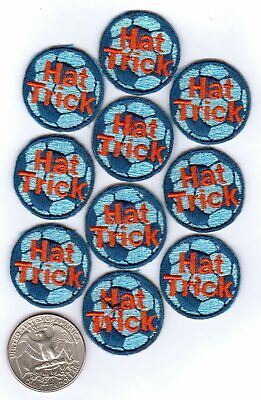 - Soccer Ball Iron On Patches - Hat Trick - 10-pack 1.0-inch diameter
