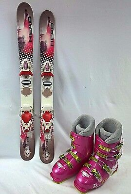 (GIRLS NEW Ski Package, Head 87cm skis, Roxy boots, Poles)