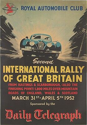 Jaguar XK120 International Rally of GB Poster (9198) Daily Telegraph, Print