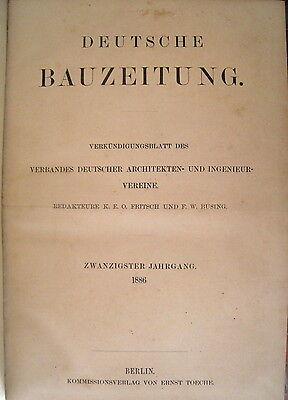 Deutsche Bauzeitung 20. Jahrgang 1886 Heft 1 - 103 fest gebunden RAR