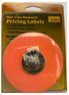 One-line Monarch Pricing Labels 11050710 Pricing Labeler 925037 Red 3 Rolls