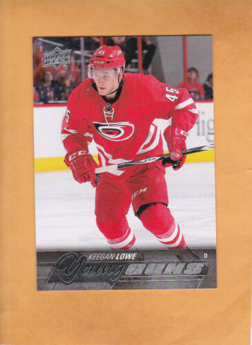 370b4e209 KEEGAN LOWE 2015 16 UPPER DECK YOUNG GUNS ROOKIE   246 CAROLINA HURRICANES  RC