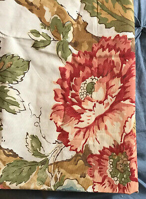 New Pottery Barn - beautiful Multicolored Cream Floral Pillow Shams, set of 2