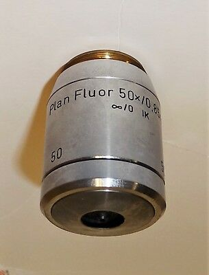 Plan Fluor  Epi 50X Ik Objective For Reichert Univar Or Polyvar Microscope