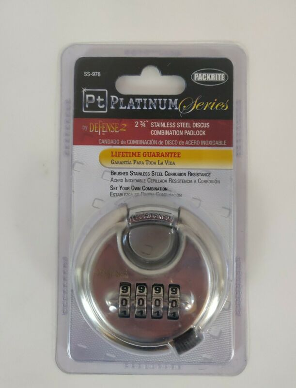 NEW Packrite PT Platinum Series Defense 2 Combination Discus Storage Padlock