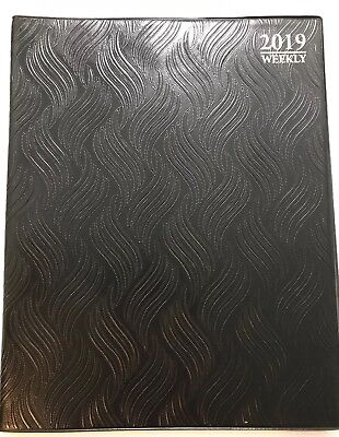 2019 Black Weekly Day Planner Appointment Book Calender Organizer 8 X 10