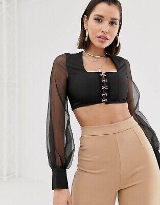 Black Crop Top - Katch Me Size 10