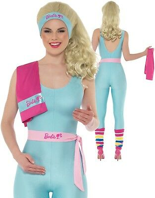 Barbie Costume Licensed Ladies Lycra Leotard Fancy Dress - Barbie Fancy Dress