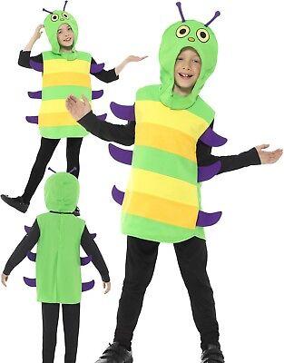 Kinder Very Hungry Caterpillar Kostüm Jungen Mädchen Welt Buch Tag Kostüm Neu