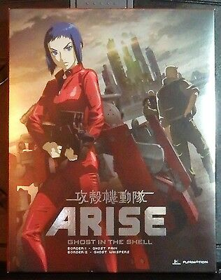Ghost in the Shell ARISE 1 & 2 Blu-rays/DVDs Set--Like New-Ghost Pain &