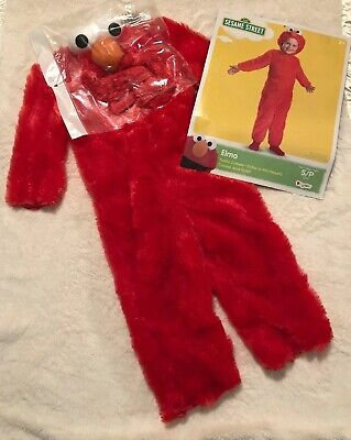 *NEW*DISGUISE Elmo TODDLER COSTUME SZ: S/2T Soft Sesame Street~Dress