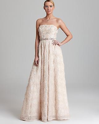 h Rosette Strapless Tulle Ball Gown Wedding Dress Size 12 (Rosette Ballkleid)