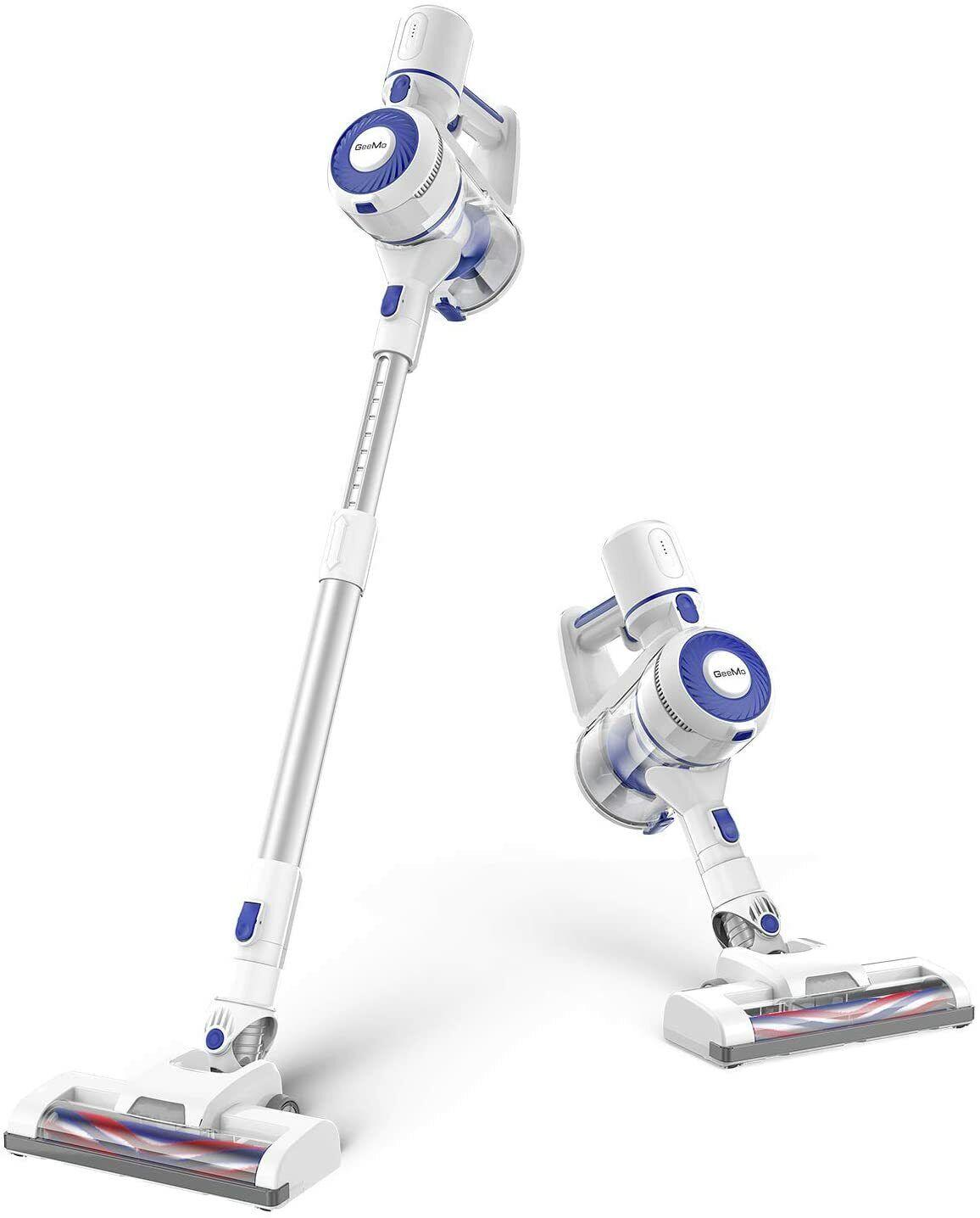 GeeMo Cordless 4 in 1 Stick Vacuum Cleaner 150w Suction Anti-Static 4 Pet Carpet