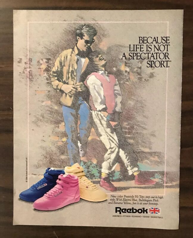 1986 REEBOK SNEAKERS Print Ad Excellent Color  (PH1)
