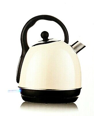 HOME ANTIQUE RETRO CREAM DOME KETTLE 1.7L 3000W VINTAGE WITH WATER GAUGE