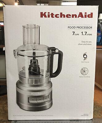 KITCHENAID FOOD PROCESSOR (KFP0718CU) / CONTOUR SILVER / 7CUPS / NEW