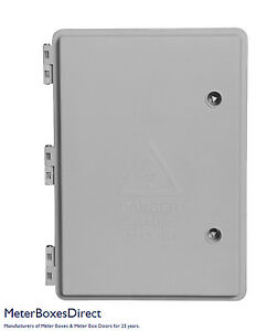 Weatherproof electrical meter cabinet - IP65 rated (360x252x140mm)