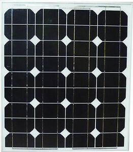 50w 50 watt mono solar panel panneau solaire 12v rv boat. Black Bedroom Furniture Sets. Home Design Ideas
