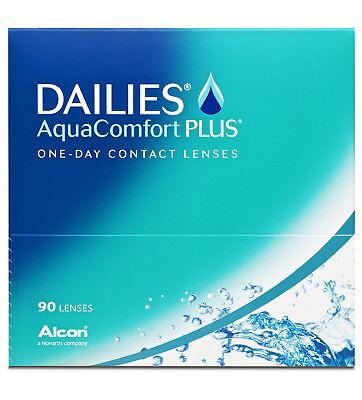 Dailies AquaComfort Plus Kontaktlinsen,Tageslinsen weich, 90 Stück
