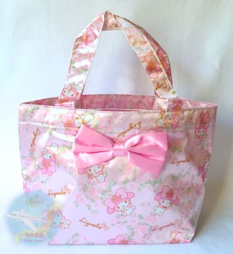 "SANRIO & LIZ LISA KAWAII My Melody ""Lizmelo"" Small Tote Bag Silky Glossy Pink"