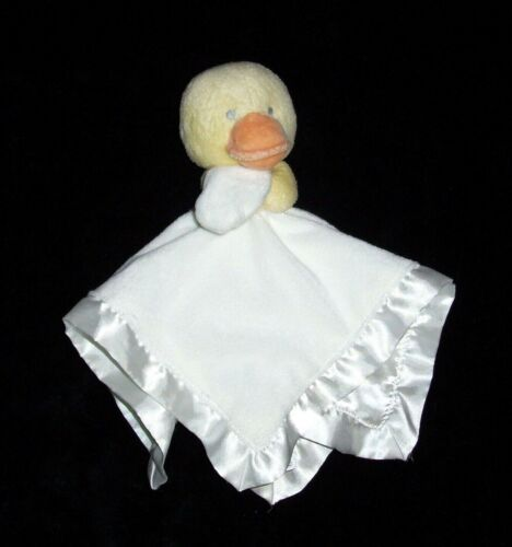 Carters Yellow White Duck Baby Blanket Satin Plush Baby Security Lovey L33283H