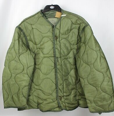 New Olive Drab Military M65 Army Field Jacket Liner, S-XL Field Jacket Liner Olive Drab