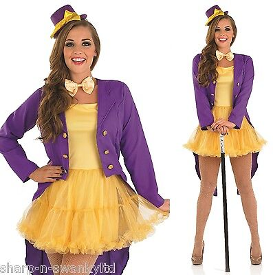 Ladies Sexy Book Day Ringmaster Circus Fancy Dress Costume Outfit 8-22 Plus Size