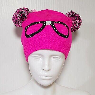 Nuevo Claire's Infantil Invierno Gorro Rosa Gafas Brillante Color