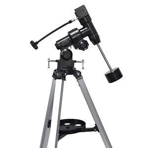 Large equatorial tripod for telescopes. Dovetail mount