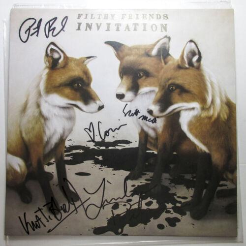 Peter Buck & Filthy Friends Full Band Signed Invitation Vinyl Album PROOF COA
