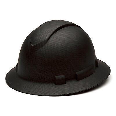 Pyramex Ridgeline Hard Hat Graphite Pattern Black Full Brim Ratchet Hp54117