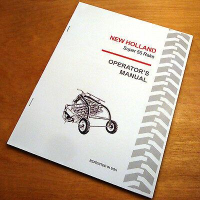 New Holland 55 Super Rolabar Hay Rake Operators Owners Book Manual Nh
