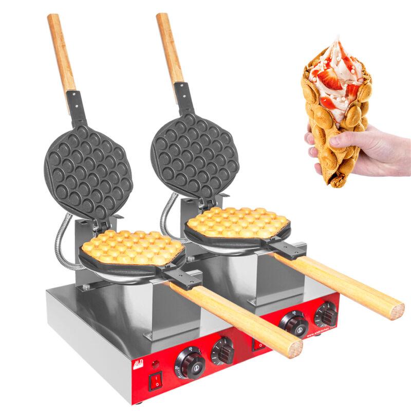 Bubble Waffle Maker | Professional Electric Iron | 2 Hexagon Shaped Waffles