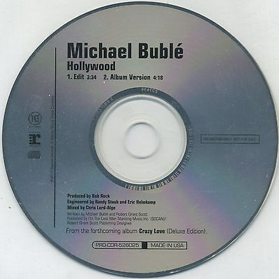 Michael Buble  Hollywood  Edit   Lp Versions 2010 Usa Promo Cd Single
