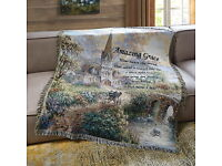 60X50 NEW Amazing Grace Religious Quilted Throw Blanket