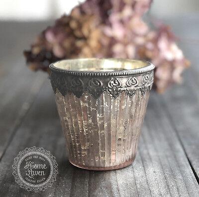 Rosa Vintage Tee (Teelichthalter Windlicht 'Diva' Glas rosa Vintage Skandinavisch Lene Bjerre)